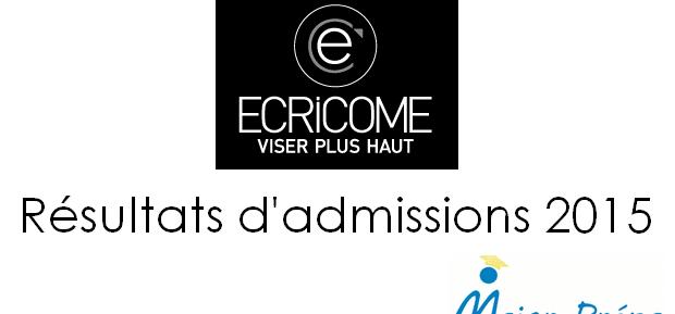 Résultats d'admissions Ecricome 2015