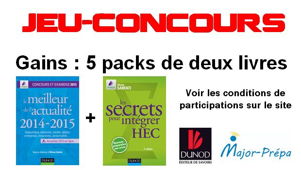 Jeu-Concours Major-Prépa – Dunod : 10 livres à gagner !