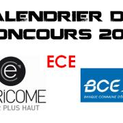 Calendrier BCE & Ecricome 2016 – ECE