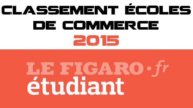 Classement Le Figaro des Ecoles de Commerce 2015