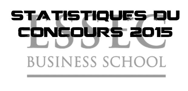 Statistiques du concours ESSEC 2015