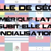 Sujet de colle HGGMC : l'Amérique latine subit-elle la mondialisation ?