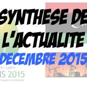 Synthèse de l'actualité – Décembre 2015