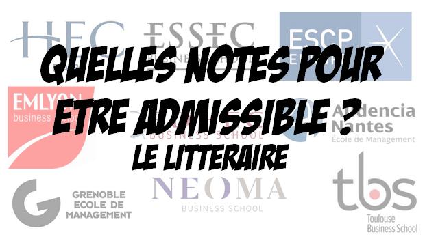 Quelles notes pour être admissible à… Le littéraire (2018)