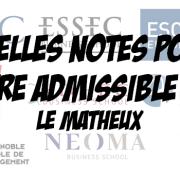 Quelles notes obtenir pour être admissible à … ? (1)