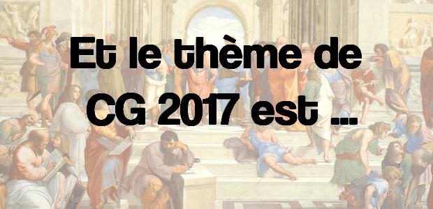 Le thème de culture générale 2017 serait…