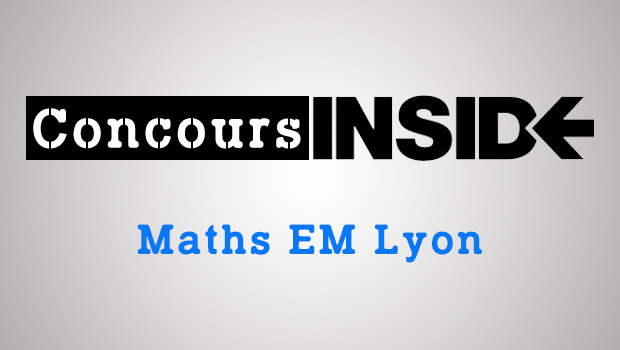 Maths emlyon 2018 ECE – Sujet
