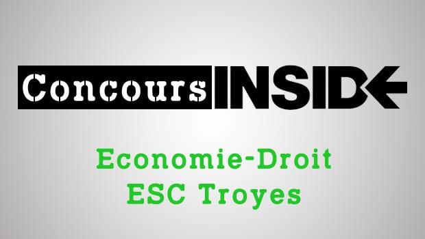 Economie-Droit ESC Troyes – Sujet