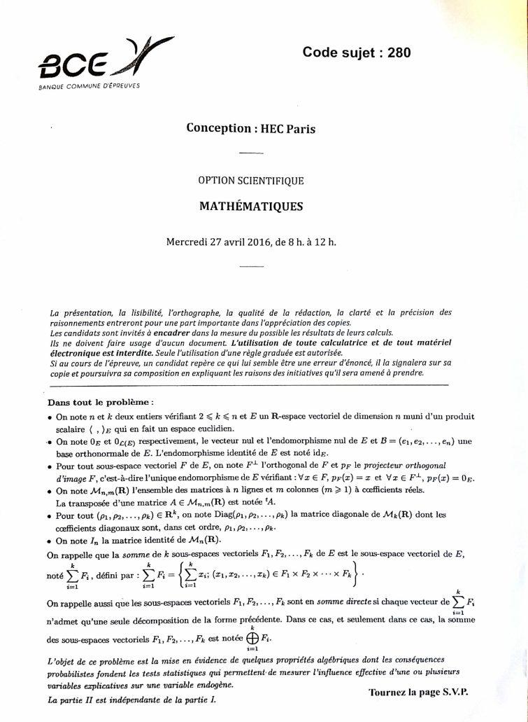 Maths HEC S1