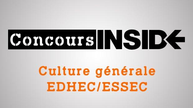 Culture générale EDHEC-ESSEC 2018 – Sujet