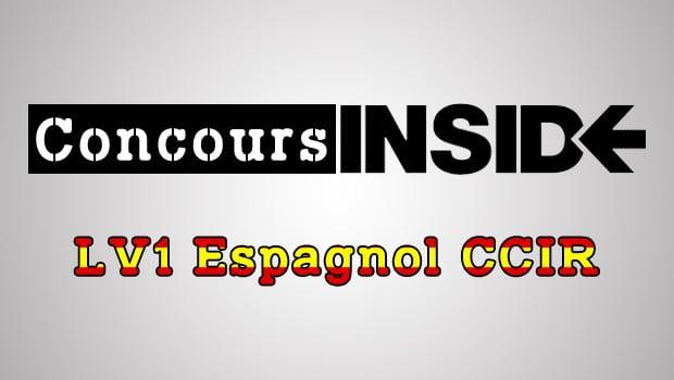 LV1 Espagnol CCIR 2016 – Sujet