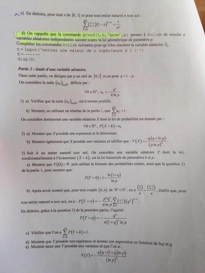 Maths EDHEC 2016 E - Page 4