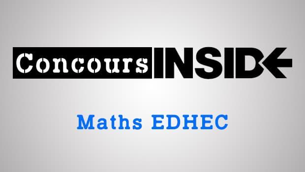 Maths EDHEC 2016 ECE – Sujet