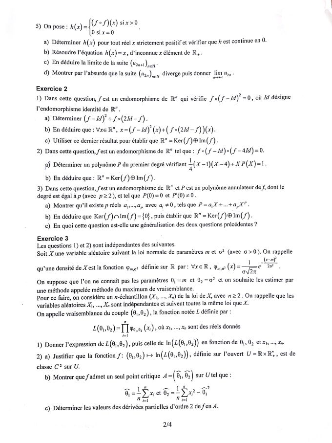 ujet Maths EDHEC 2016 S - Page 2