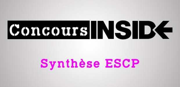Synthèse ESCP 2018 – Sujet