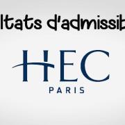 Résultats d'admissibilités HEC 2017