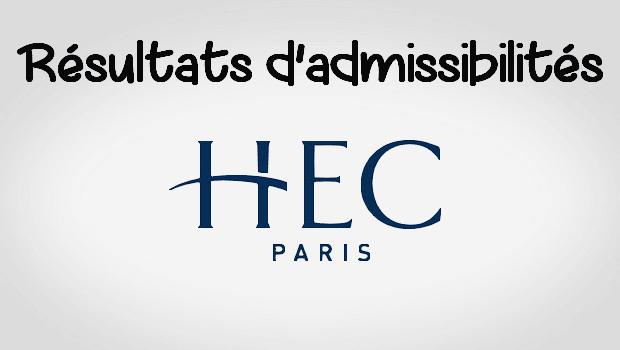 Résultats d'admissibilités HEC 2018
