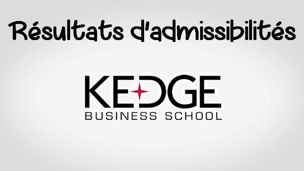 Résultats d'admissibilités KEDGE 2018