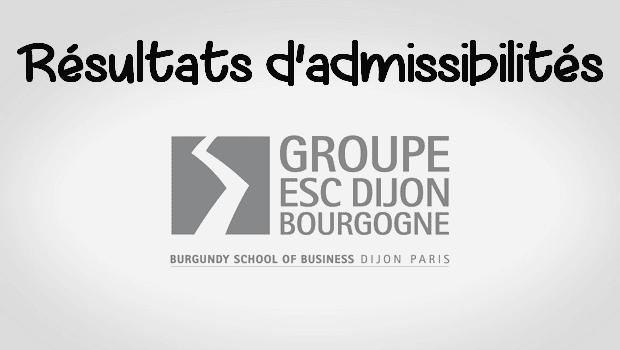 Résultats admissibilités ESC Dijon 2016