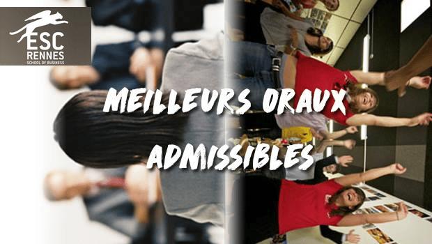 Vote Rennes School of Business – Concours des meilleurs oraux admissibles 2017