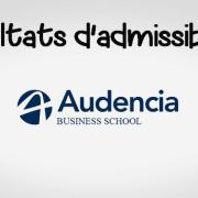 Résultats d'admissibilités Audencia 2019