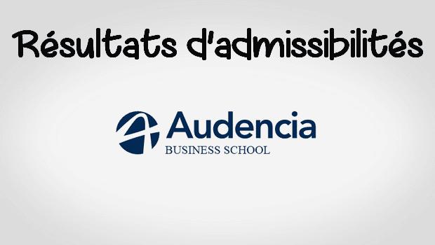 Résultats d'admissibilités Audencia 2017