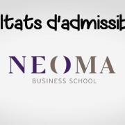 Résultats d'admissibilités NEOMA 2018