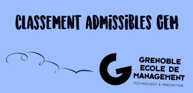 Classement Admissibles GEM 2016 (1)