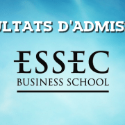Résultats d'admissions ESSEC 2017