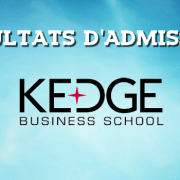 Résultats d'admissions KEDGE 2016