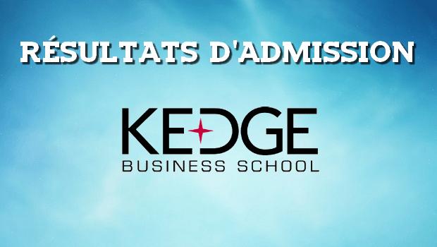 Résultats d'admissions KEDGE 2018