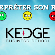 Interpréter son rang KEDGE 2016