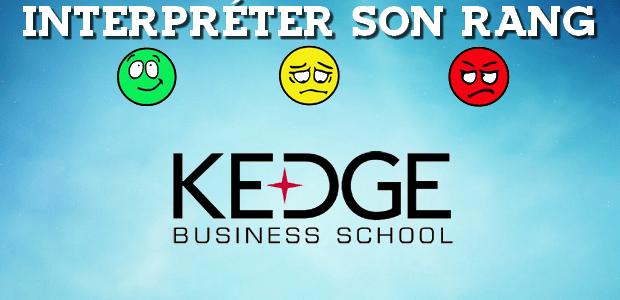 Interpréter son rang KEDGE 2017