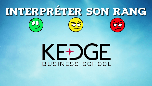 Interpréter son rang KEDGE 2018