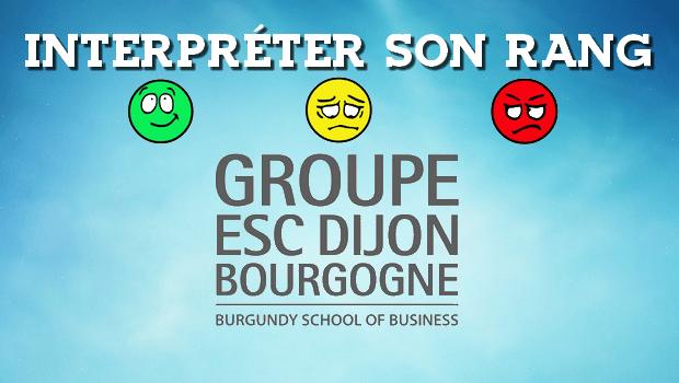 Interpréter son rang ESC Dijon 2016