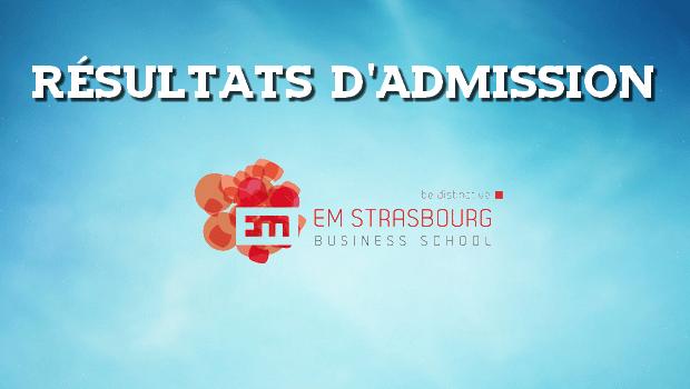 Résultats d'admissions EM Strasbourg 2016