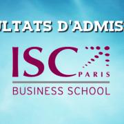 Résultats d'admissions ISC Paris 2018