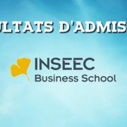 Résultats d'admissions INSEEC 2016