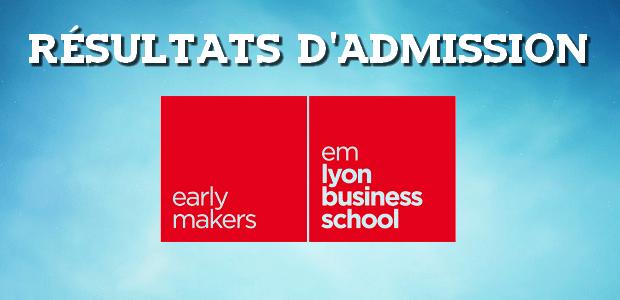Résultats d'admissions emlyon 2017