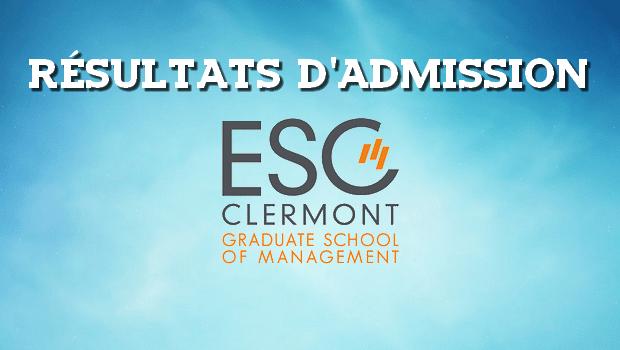 Résultats d'admissions ESC Clermont 2016