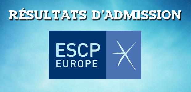 Résultats d'admissions ESCP 2017