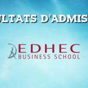 Résultats d'admissions EDHEC 2016
