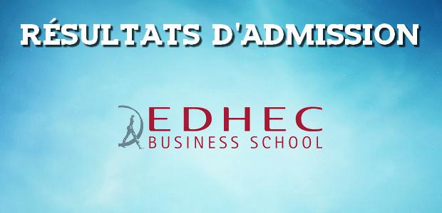 Résultats d'admissions EDHEC 2018