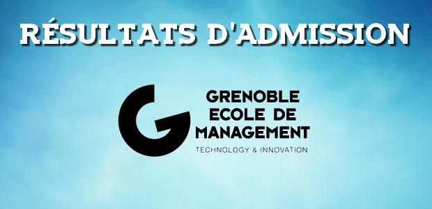 Résultats d'admissions Grenoble EM 2017