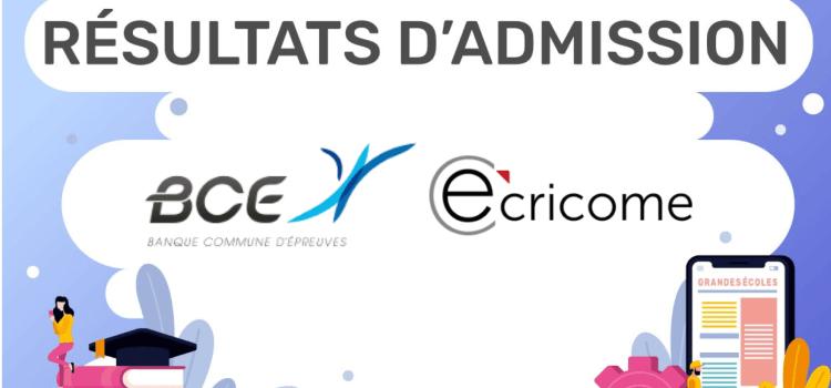 Dates et liens des résultats d'admission 2020 – BCE et Ecricome