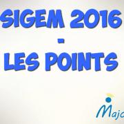 Classement SIGEM 2016 – Les points