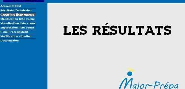 Les résultats SIGEM 2018 sont disponibles
