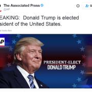 Donald Trump est élu président des États-Unis