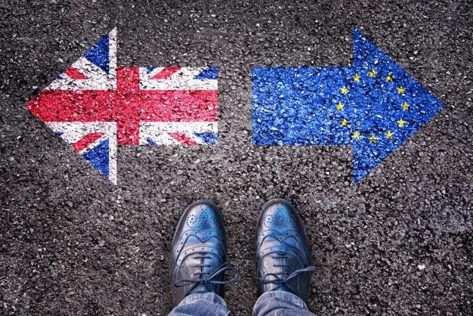 Au cours des manifestations pour le Brexit le 23 mars...