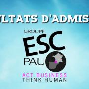Résultats d'admissions ESC Pau 2017